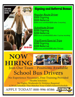 Hiring Bus Drivers Flyer