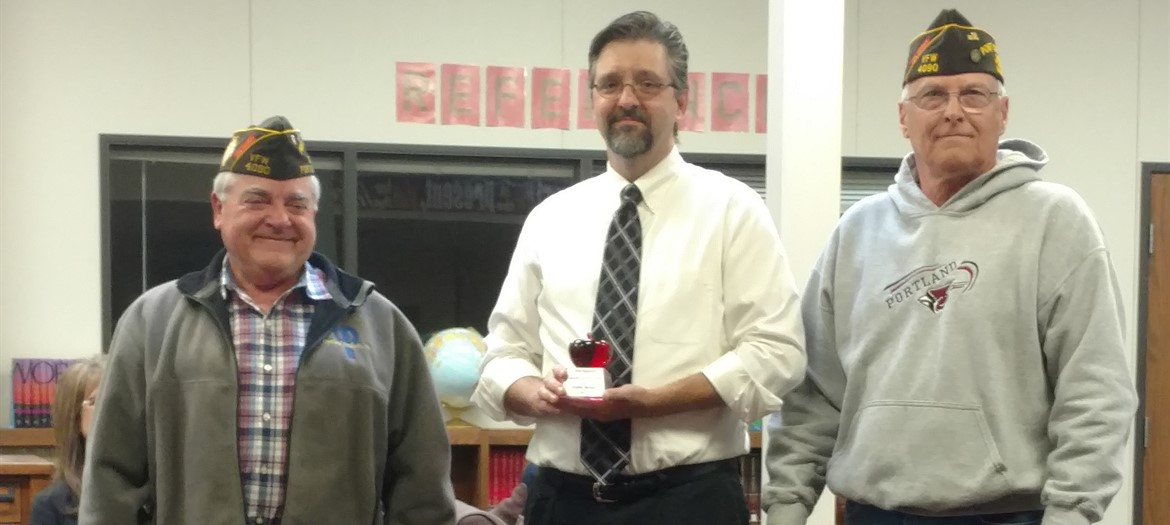 VFW Honors John Renn as Teacher of the Year